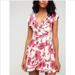 NWT FP floral wrap dress